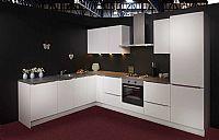 Hoogglans witte semi-greeploze keuken (139)