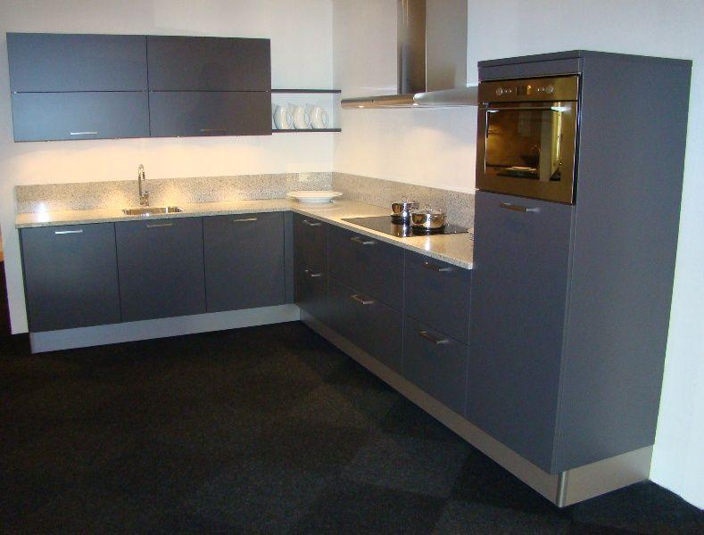 Antraciet Kleur Keuken : keukensite van Nederland Pronorm hoekkeuken in antraciet [45447